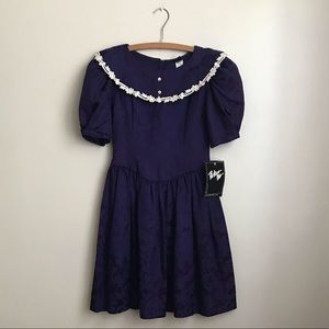 NWT Vintage Brocade & Lace Dress